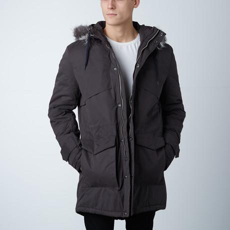Henri Hooded Long Coat // London Grey (XS)