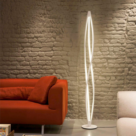 Twist LED Floor Lamp (Silver)