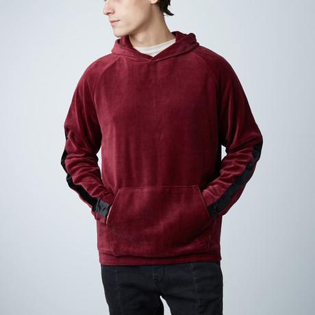 Velour Hoodie // Burgundy (XS)