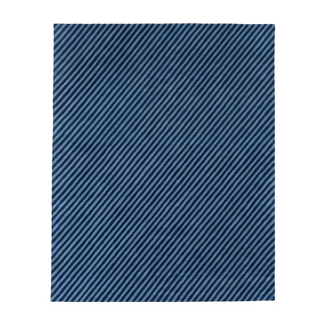 Pinstripes // Blue Bird (3'W x 5'H)