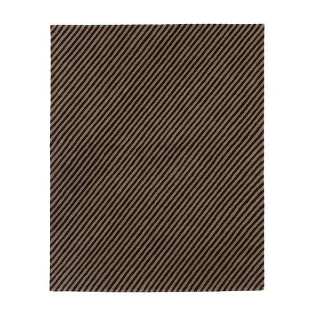 Pinstripes // Cocoa (3'W x 5'H)