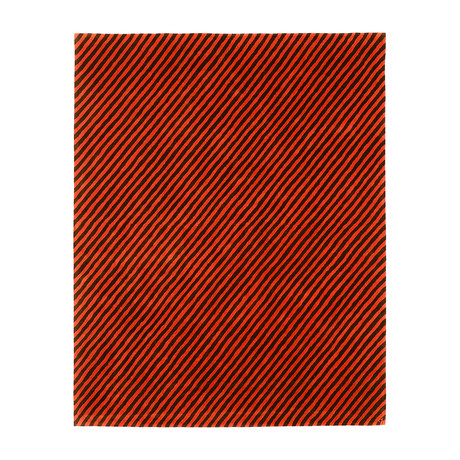 Pinstripes // Poppy (3'W x 5'H)