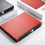 Lockbook Fingerprint Protected Refillable Notebook // Red
