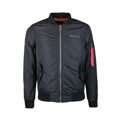 Zip Bomber Jacket // Black (S)