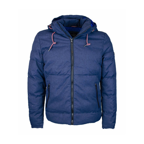 Hooded Puffer Jacket // Blue (S)