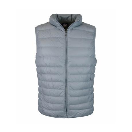 Zip Puffer Vest // Grey (S)