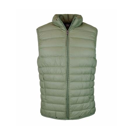 Zip Puffer Vest // Military (S)