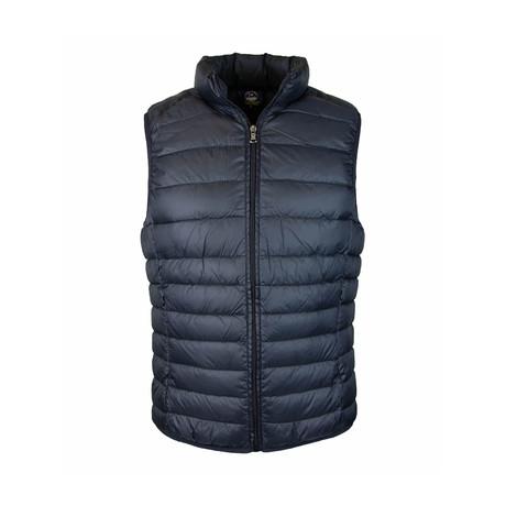 Zip Puffer Vest // Black (S)