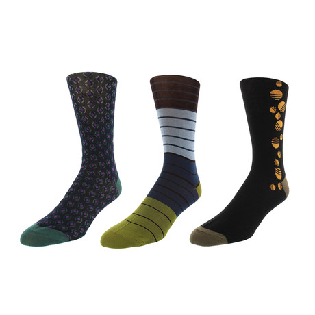 Charleston Dress Socks // Pack of 3