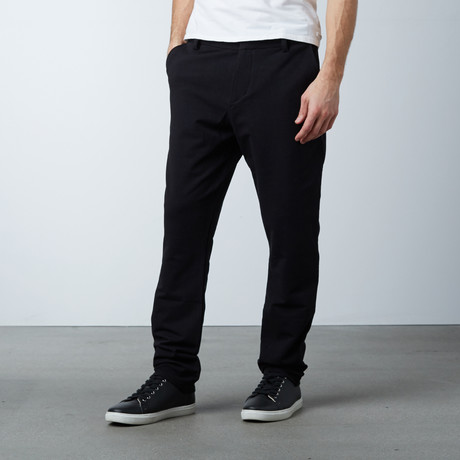 Knit Stretch Chino Pant // Black (28WX30L)