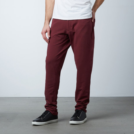 Knit 5 Pocket Pant // Oxblood (28WX30L)