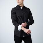 Wilson Dress Shirt // Black + White (S)