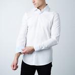 Dover Dress Shirt // White + Light Blue Oxford (S)