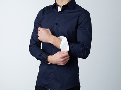 Photo of Dapperman Modern & Minimal Dress Shirts Meadows Dress Shirt // Blue + White (S) by Touch Of Modern