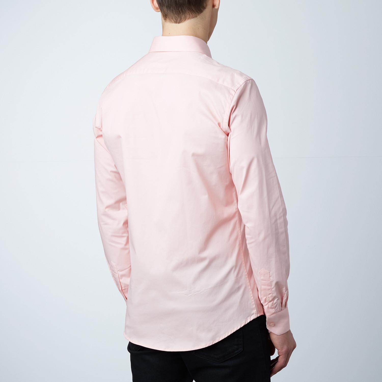 Trenton Dress Shirt Salmon White S Dapperman Touch Of Modern