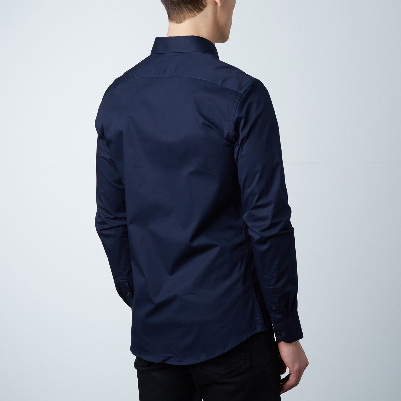 Pierre Dress Shirt Blue Salmon Oxford S Dapperman Touch