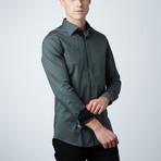 Oak Dress Shirt // Olive + Black (S)