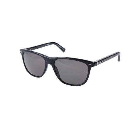 Men's EZ0009 Sunglasses // Shiny Black + Smoke