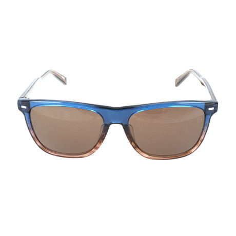 Goretti Sunglass // Blue + Brown