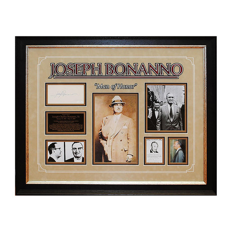 "Signed Photo Collage // ""Man of Honor"" // Joseph Bonanno"
