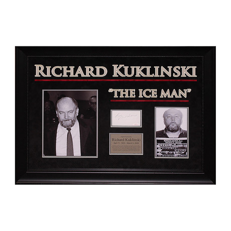 "Signed Signature Collage // ""The Ice Man"" // Richard Kuklinski"