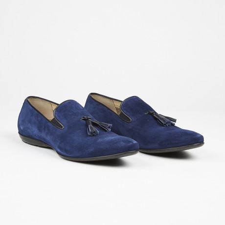 Suede Tassel Loafer // Navy (US: 7)