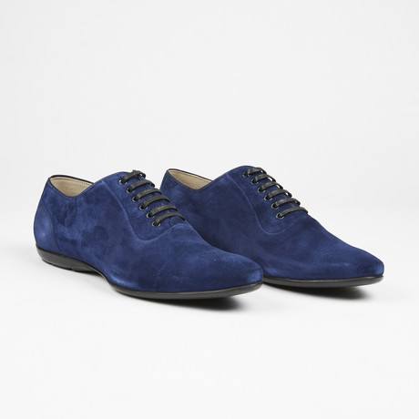 Suede Plain Toe Lace Up // Navy (US: 7)