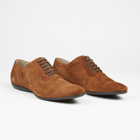 Suede Plain Toe Lace Up // Tabaco (US: 7)