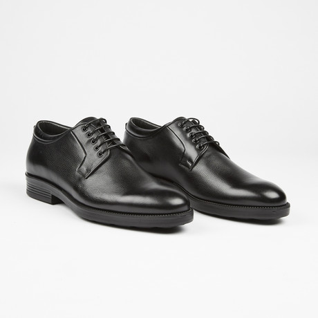 Plain Toe Casual Lace Up // Black (US: 7)