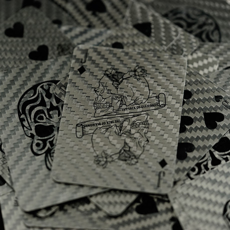 Premium Carbon Fiber Playing Poker Card // Limited Edition