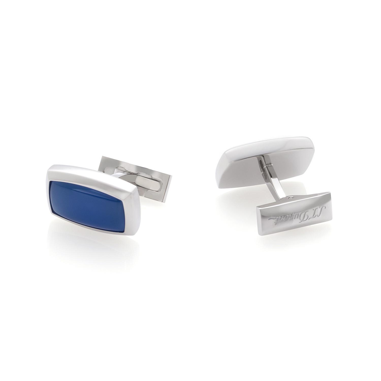 S.T. Dupont Boutons de Manchette Blue Agate Cufflinks ...
