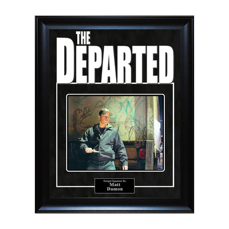 Signed Artist Series // The Departed // Matt Damon