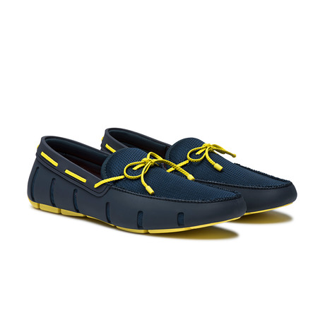 Braided Lace Loafer // Navy + Yellow (US: 7)