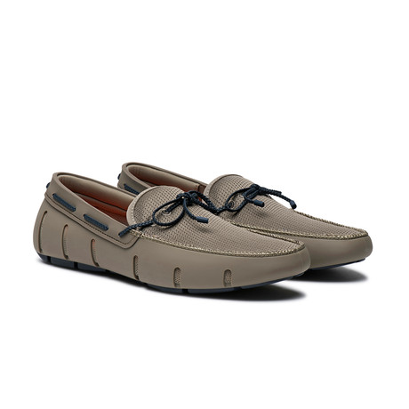 Braided Lace Loafer // Khaki + Navy (US: 7)