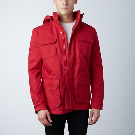 One Man Stratus Rain Jacket // Red (S)