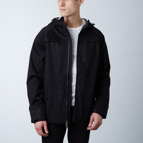One Man Commuter Weatherproof Hoodie // Black (S)