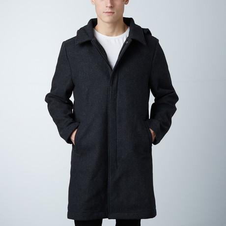 One Man Alex Waterproof Wool Coat // Black (S)