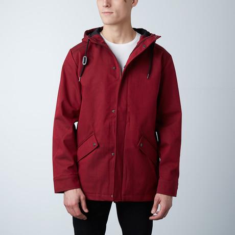 One Man Voyer Rain Jacket // Dark Red (S)