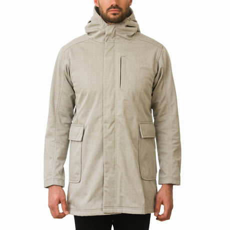 One Man Wanderer Rain Jacket // Taupe (S)