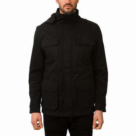 One Man Stratus II Rain Jacket // Black (S)