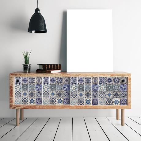 Spanish Blue Tiles // Set of 8