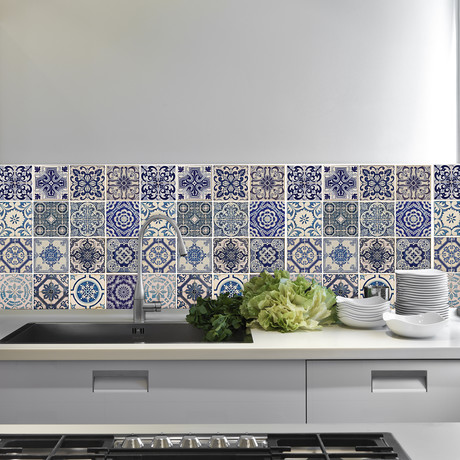 Spanish Blue Tiles // Set Of 12
