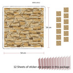 Rock Pattern Wall Mural // Set Of 12