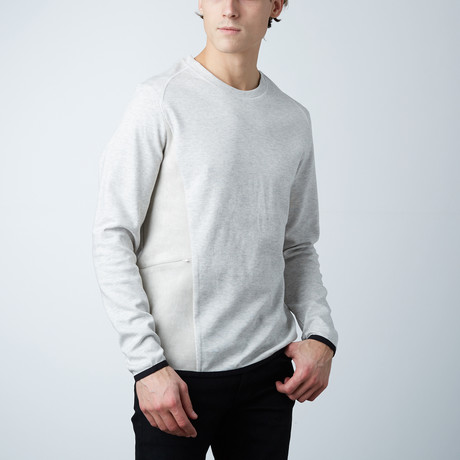 Bolton Invisible Suede Zipper Pullover // Grey (S)