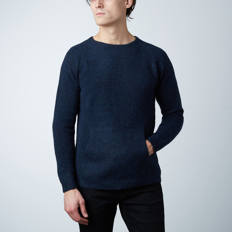 Vince Fuzzy Pocket Sweater // Indigo (S)