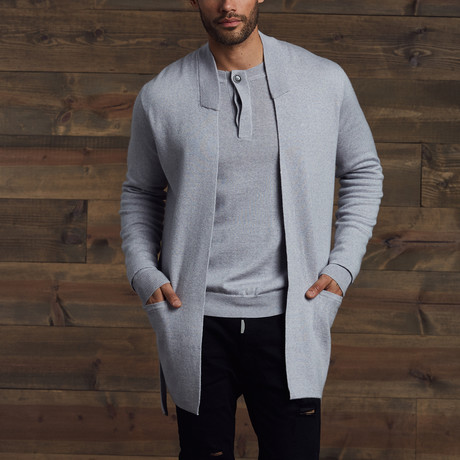Garrett Belted Cardigan // Heather Gray (S)