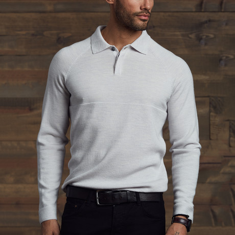 Worden Polo Collar Sweater // Ecru (S)