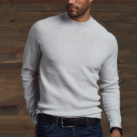 Wain Mix Stitch Sweater // Heather Gray (S)