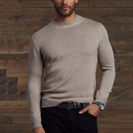 Pratt Neck Detail Sweater // Oatmeal (S)
