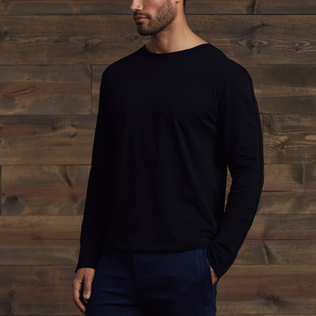 Brooks Long Sleeve Crew // Black (S)
